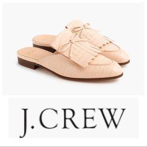 NIB J. Crew Academy Loafer Kiltie Mule pink, 9.5